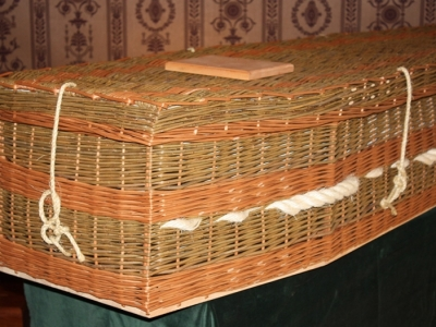 Irish Hand Weaved Willow Coffin